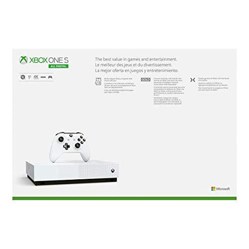 Xbox One S 1TB All-Digital Edition Console (Disc-Free Gaming) - Discontinued