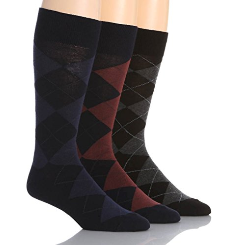 Polo Ralph Lauren Argyle Cotton Crew Socks 3-Pack, One Size, Navy ()