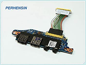 ShineBear 0T981T for DELL for Alienware 17 R3 USB Audio Port IO Board+Cable CHB02 AAP20 LS-B758P T981T Cable Length: Board