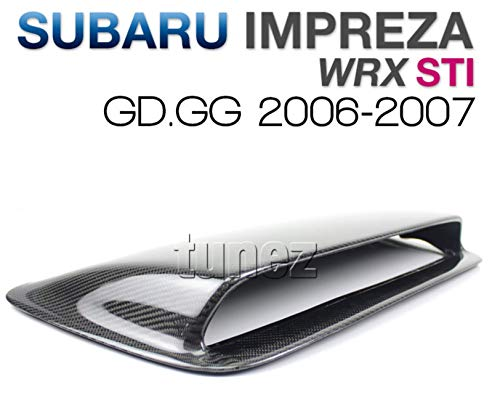 tunez Sti-Style Carbon Fiber Hood Scoops Hood Vents for Subaru WRX GD GG 2006 2007 GR
