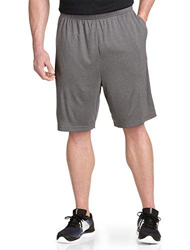 Reebok Drawstring Shorts (Reebok PlayDry Tech Athletic Shorts, Granite Black 3X)