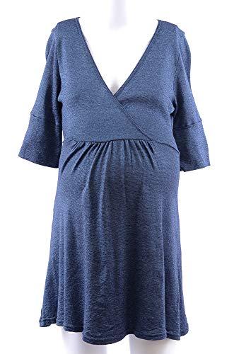 Stars Michael Maternity Tunic (Michael Stars Maternity Nightsky Blue OSFA Shine Surplice Tunic top)