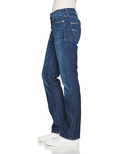 dark Mavi Str 17382 Edge Donna Gamba Jeans Dritta Blu Blue A Mona vqrv0AUw