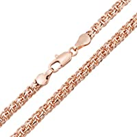Rose Gold Plated Necklace for Women and Men Chain Model Bismarck Olivia Star...