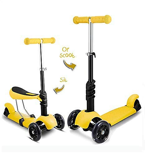 WomToy Kick Scooter for Kids Toddlers, 3 Wheels Foldable Mini Kick Scooter with...