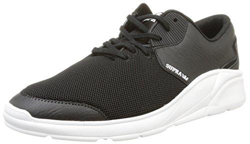 年金ホイッスル性交Supra Mens Noiz Black White White Skate Shoes