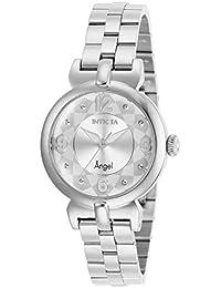 Women's Angel Quartz Watch with Stainless Steel Strap, Silver, 14 (Model: 29145)