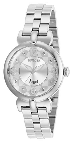 Invicta Women's Angel Quartz Watch with Stainless Steel Strap, Silver, 14 (Model: 29145)