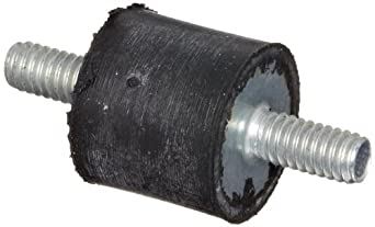 "Rubber Vibration Dampening Mounts, #8-32 x .25""L Double Threaded Mounts, .43""OD x .4""L Rubber"