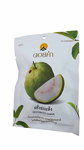 Price comparison product image 3 Packs of Dehydrated Guava, Made From Real Guava, Delicious Snack From Doi Kham Brand, Royal Project Product from Thailand. No Color and No Artificial Flavor Added. (40 g/ pack)