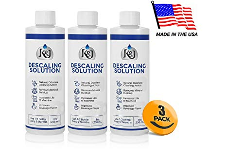3-Pack Universal Descaling Solution - Descaler for Keurig, Cuisinart, Breville, Kitchenaid, Nespresso, Delonghi, Krups, and all other coffee brewers - by K&J by K&J