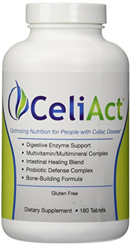 CeliAct - Optimizing Health for People on a Gluten-Free Diet - 180 Tablets