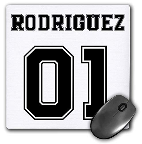 (3dRose Carsten Reisinger - Illustrations - Rodriguez 01 Hispanic Latino Surname Last Name - Mousepad (mp_318844_1))