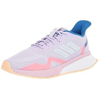 adidas Women's NOVAFVSE X Running Shoe, Purple Tint/Sky Tint/Glow Orange, 11 M US