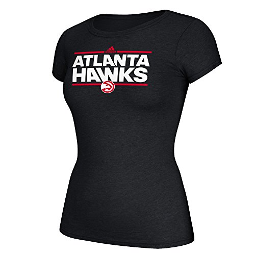 fan products of NBA Atlanta Hawks Women's Her Dassler Cap Sleeve Tee, Medium, Black