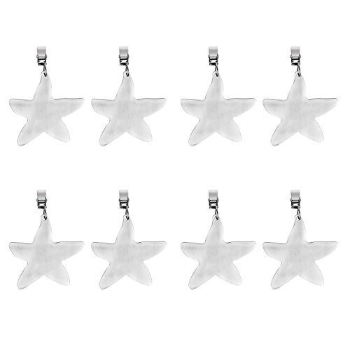 (TEKEFT Set of 8 Stainless Steel Starfish Shaped Table Cover Tablecloth Weights (Starfish) (4))