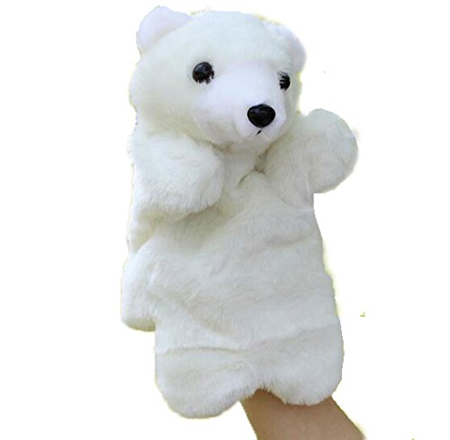 - OUUD Polar Bear Hand Puppets Plush Toys Christmas Gifts for Kids Children Play Learn Story Toys
