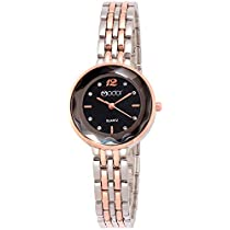 Modor Bling It On Rose Gold Silver Black Studded Chain Watch