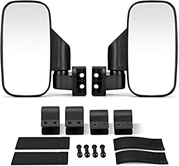 Rear And Side View Mirror UTV Rearview Side Mirror And Center Mirror Set 1.75 2 Bar For Polaris RZR Ranger