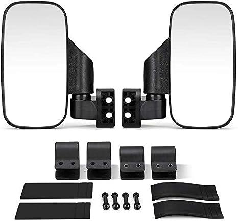 "Rear View Mirror Side Mirrors 1.75/"" 2/"" Roll Bar For Polaris RZR Yamaha UTV ATV"