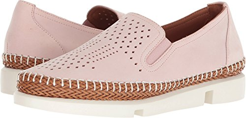 L`Amour Des Pieds Womens Stazzema Pink Nubuck Slip-On - 8.5