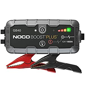 NOCO Boost Plus GB40 1000 Amp 12-Volt Ultra Safe Portable Lithium Car Battery Jump Starter Pack For Up To 6-Liter…