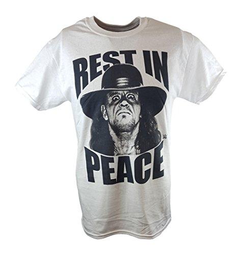 Undertaker Rest In Peace WWE Mens White T-shirt-XXL by WWE
