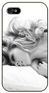 Surelock iPhone 5 / 5s Sexy girl laying down, grey tones - black plastic case, hot girl, girls by icecream design
