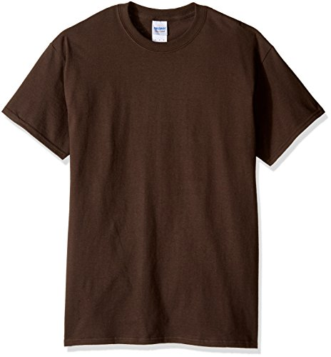 Gildan Men's Ultra Cotton Tee, Dark Chocolate, -