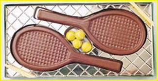 Tennis Lover Gift, Sports Gift, Solid Milk Chocolate Tennis Rackets & Balls
