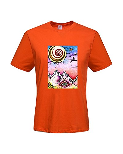 DIY Trippy T-Shirts,Men's 100% Cotton Short Sleeve T-Shirt (XXX-Large)
