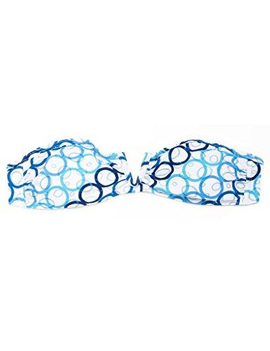 RELLECIGA - Top de bikini - para mujer Blue Circle Foil