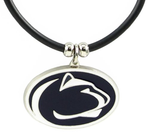 Penn State Nittany Lions Logo Pendant Rubber Necklace - NCAA (Logo Pendant State)