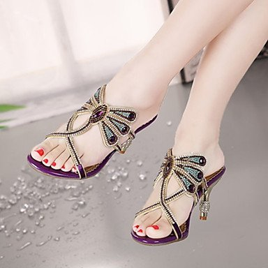 UK3 Slingback Fall 5 Summer Evening Stiletto Club Leather US5 Wedding Sandals Women'S CN35 RTRY amp; EU36 5 Microfibre Novelty Party Shoes Comfort Dress Heelr 4qp1t