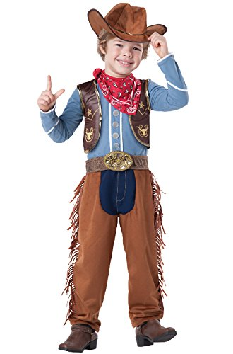InCharacter Baby Boy's Cowboy Costume, Brown/Blue, 4T (Halloween Costumes Cowboy)