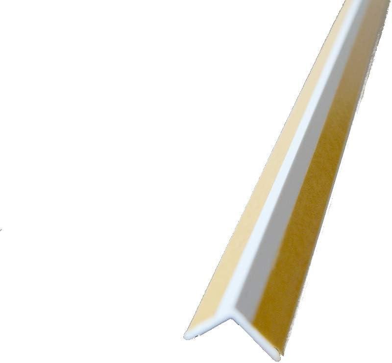 200cm Kunststoff Winkelprofil selbstklebend Innenecke Abschlussprofil Kantenschutzprofil wei/ß
