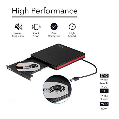 쇼핑365 해외구매대행 Cocopa External CD DVD Drive USB 3 0 Portable CD DVD +/-RW  Drive Slim DVD/CD ROM Rewriter Burner Writer, High Speed Data