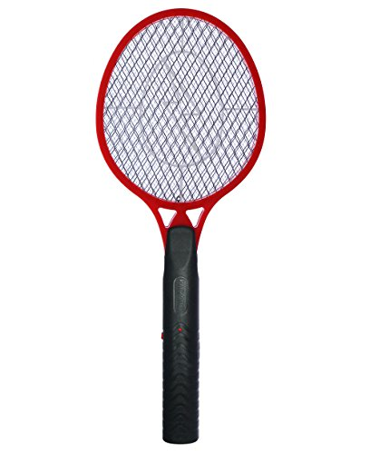 Electric Bug Swatter (KORAMZI F-4 Best Electric Mosquito Swatter Racket For Indoor And Outdoor 3 layer Wasp, Bug & Mosquito Trap and Zap Pest and Insect Control- (Red)Large size)