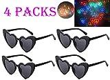 Awaqi 4 Packs Rainbow Hearts Fireworks