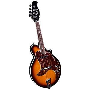 Kentucky KM-300E - Mandolina (4 cuerdas, tipo eléctrico), color marrón