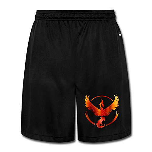 Team Valor (Pokemon GO Inspired) - Red Vinyl Decal Boy OnlineHeavyWeight Shorts Sweatpants AdultStars - Vinyl Mens Shorts