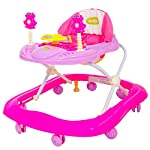 BAYBEE Smart Witty Plastic Round Baby Walker with Adjustable Height and Musical Toy Bar Rattles and Ultra Soft Seat and…
