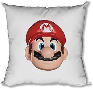 Upteetude Super Mario Happy Cushion - White, 40 x 40 cm