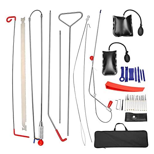 Kacsoo 20 Stuks Professionele auto tool kit, gemakkelijk toegang lange bereik grijper, lucht wig tas, geen spoor Wig…