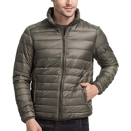 Jacket Cuello Outwear Alto Warm Simple Abrigos Army Abrigo Estilo Mens De Down Abrigo Boys Larga Green Lightweight Manga Winter Lanceyy qnXxRwPv