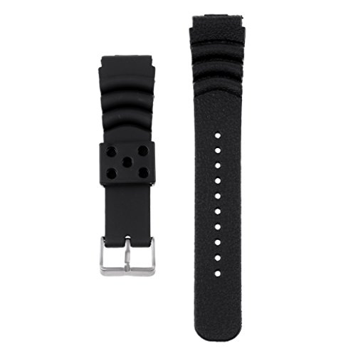 MagiDeal 20mm 22mm 24mm Pro Silicone Watch Band Sport Diver Waterproof Strap Wrist (Dive Band)