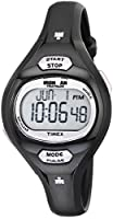 Timex Women's T5K187 Ironman Essential Pulse Black/Purple Resin Strap Watch