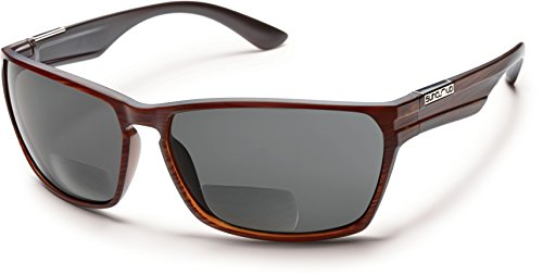 Suncloud Cutout Polarized Bi-Focal Reading Sunglasses in Burnished-Brown w/Grey Lens +3.00 by Suncloud