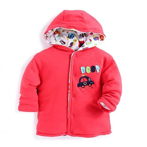 6714997736a4 Baby Station Baby Reversible Jacket (Red
