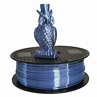 Autek Silk Silver Blue 1.75mm PLA Filament 3D Printer 1KG 2.2LBS Print Shiny Silky
